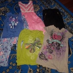 14 Piece Lot Of Girls Clothes Size 10-12
